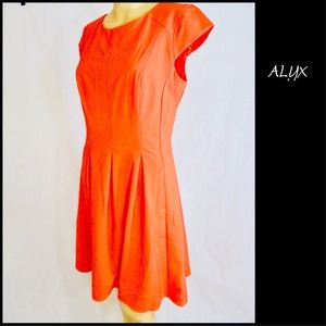 ALYX women's orange career fit and flare  dress 10